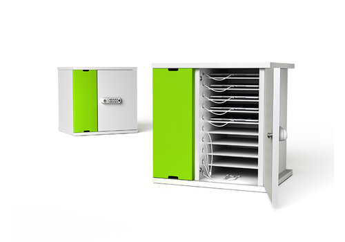 Zioxi charge & sync Schrank fuer 10 iPads und Tablets