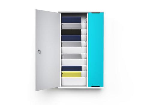 """Zioxi Wand-Ladeschrank mit USB-Connectors für 10 iPads oder Tablets 9""""-11"""""""