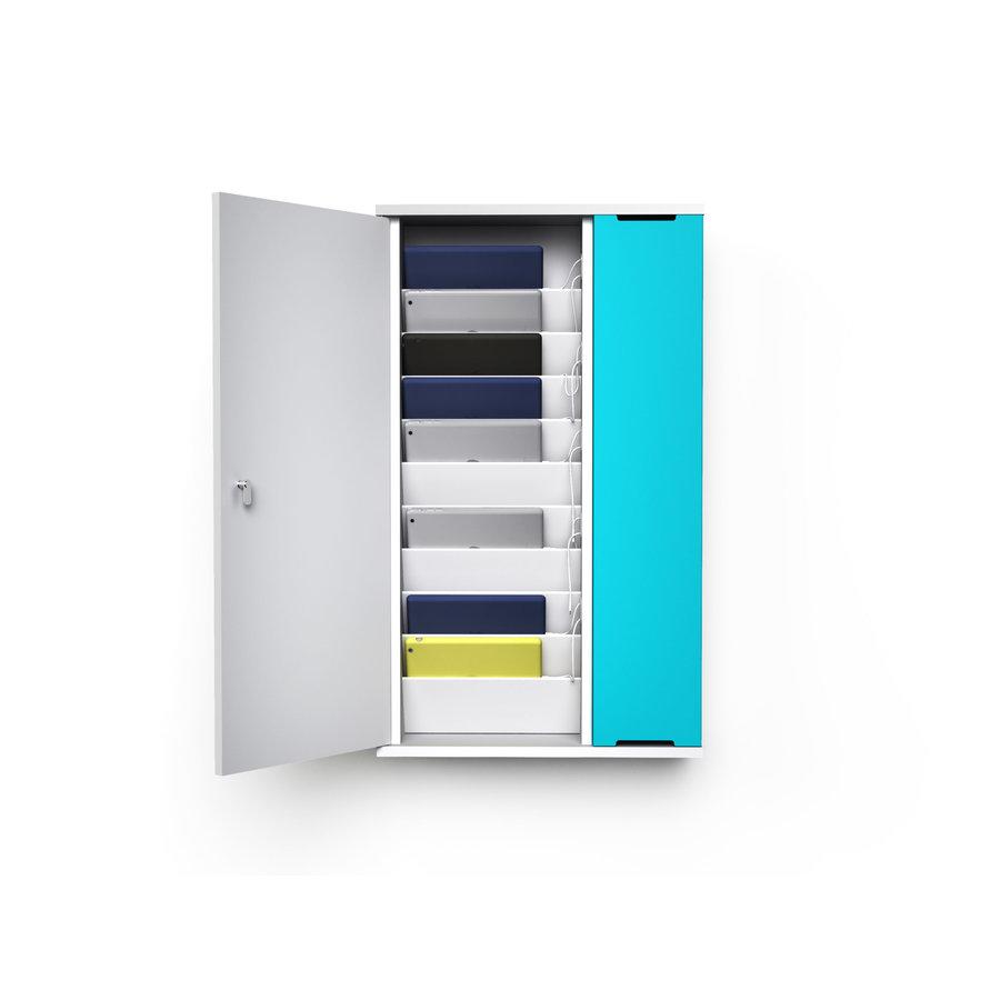 """Wand-Ladeschrank mit USB-Connectors für 10 iPads oder Tablets 9""""-11""""-1"""