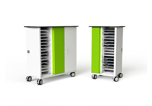 Zioxi charge & sync Schrank mit Rollen  fuer 32 iPads of Tablets
