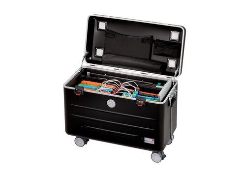 Parat charge & sync i16KC Koffer für 16 iPads mit KidsCover einschliesslich lightning Kabel ohne Fächereinteilung schwarz