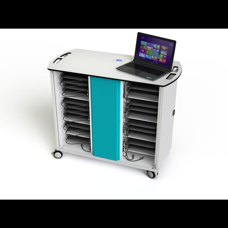 """Zioxi on View Ladewagen für 32 Laptops bis 15,6 """"mit Codeschloss-1"""