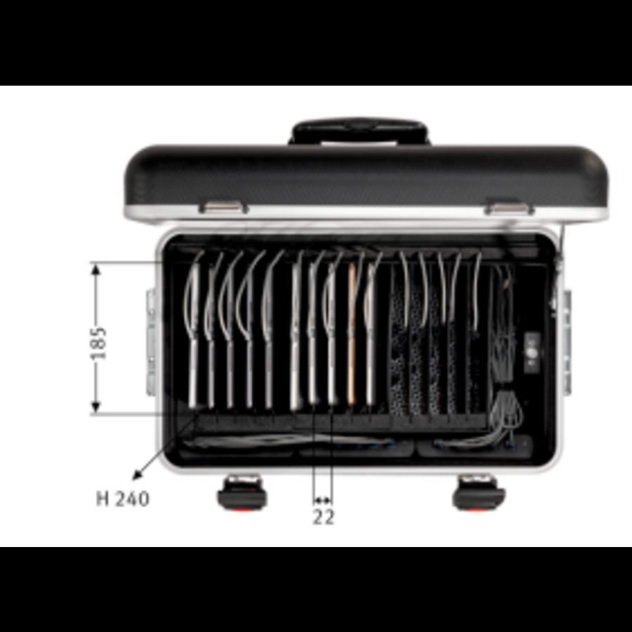 Tablet-Ladekoffer Parat TC15 MicroCase TwinCharge USB-C für 15 Tablets bis zu 11 Zoll - in Schwarz-2