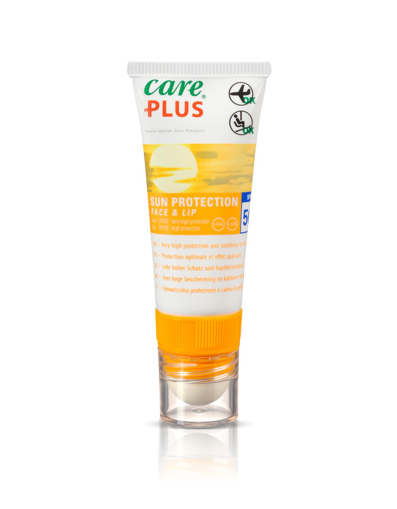 Care Plus Care Plus sun protection face and lip spf 50 20ml