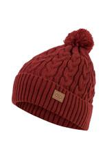 Highlander Beira Lined Bobble Hat Dark Red