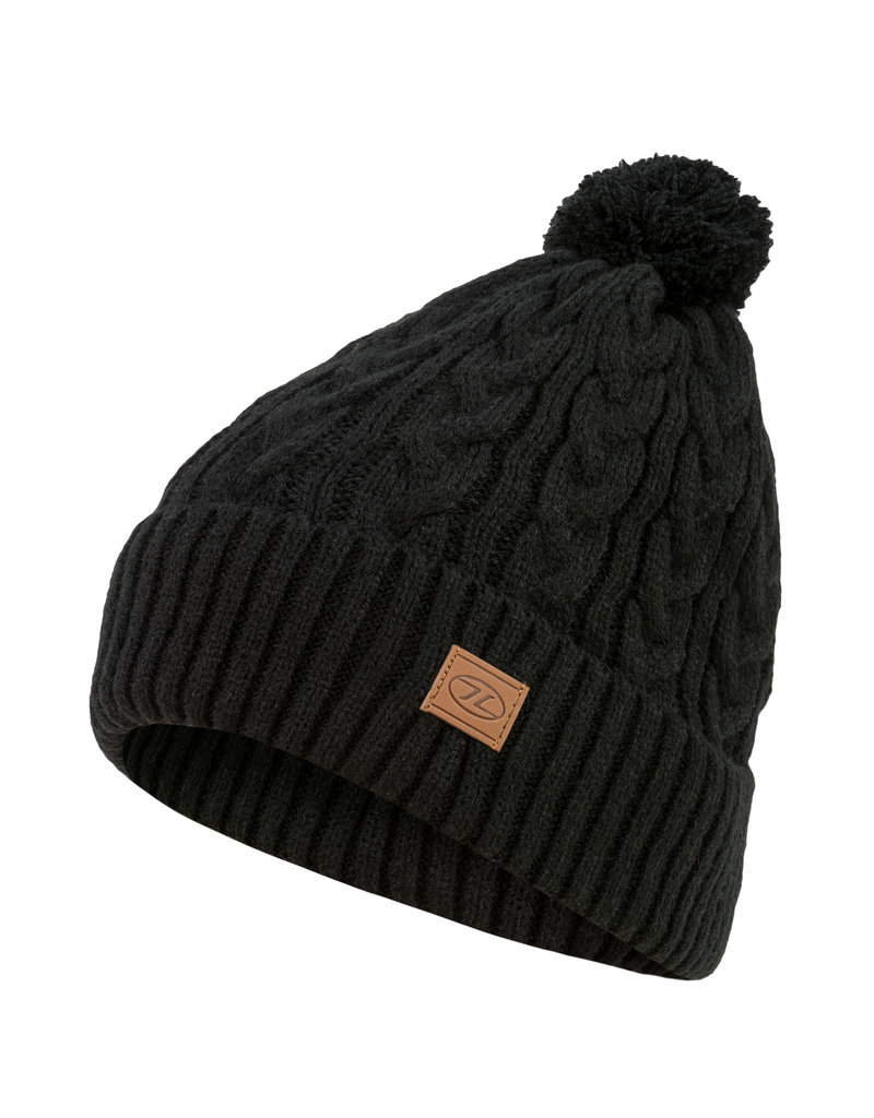 Highlander Beira Lined Bobble Hat Black