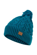 Highlander Beira Lined Bobble Hat Ocean Blue