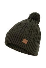 Highlander Beira Lined Bobble Hat Olive Green