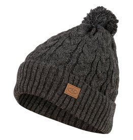 Highlander Beira Lined Bobble Hat Charcoal Marl