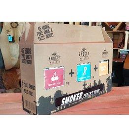 Smokey Bandit Pellet BBQ's Starter pakket smoker tube + 3 x 1kg smokey pellets