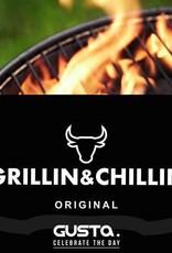 Grillin & Chillin BBQ King portable smoker zwart