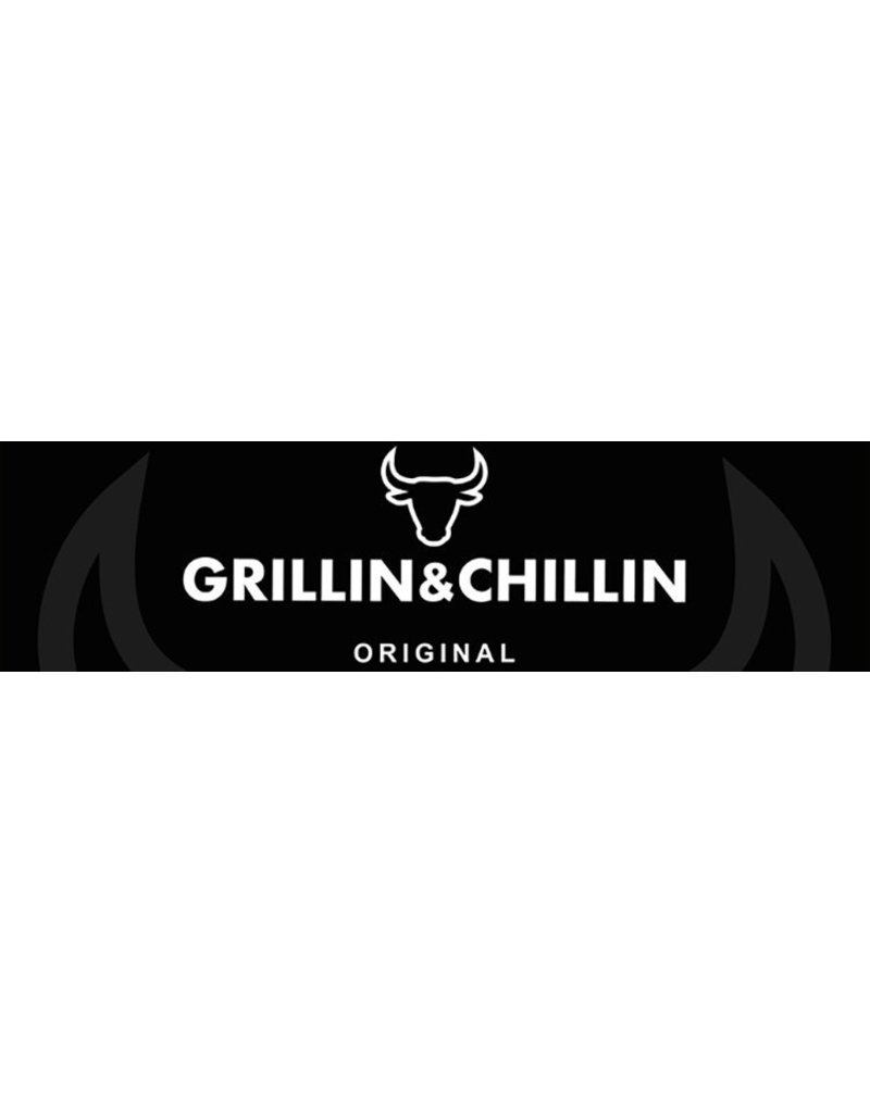 Gusta - Grillin & Chillin Gusta BBQ King portable smoker zwart