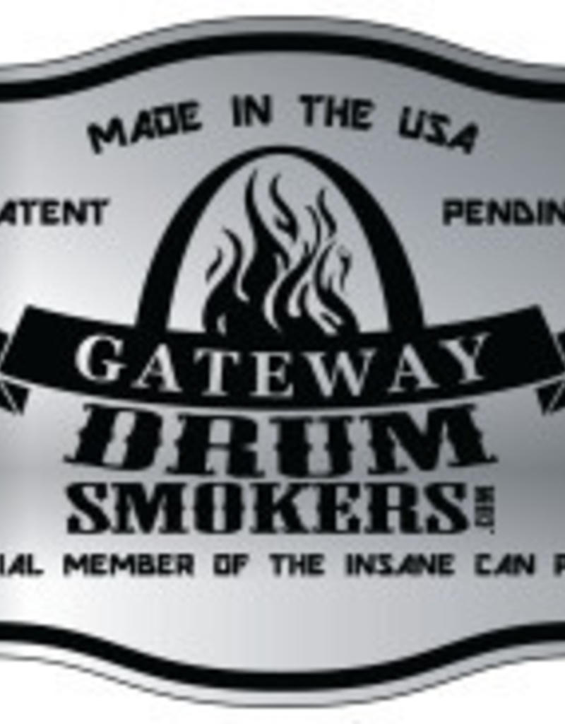 Gateway Drum Smokers Blues Hog Edition Gateway Drum Smoker 55Gal matzwart