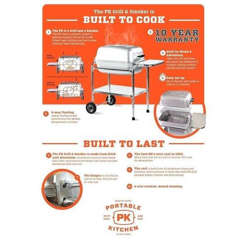 PK (Portable Kitchen) Grill The Original PK Grill & Smoker (Aluminium)