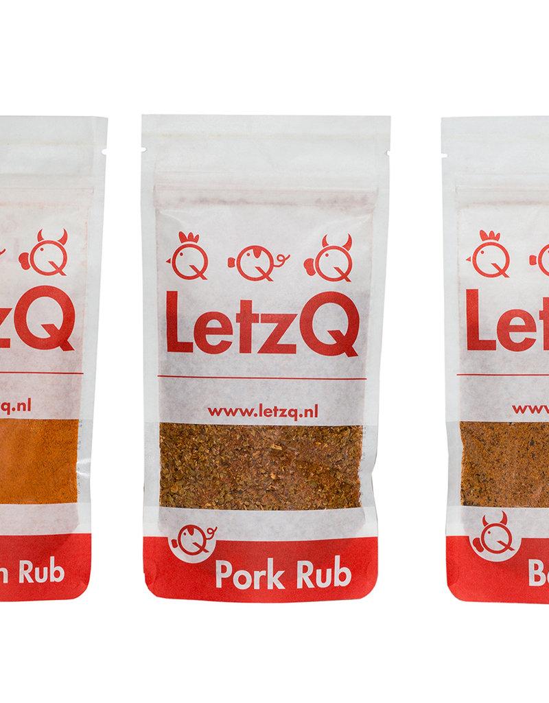 LetzQ LetzQ BBQ kruiden Rubs - Chicken - Pork - Beef 100g zakjes