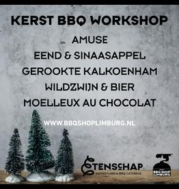 Kerstdiner BBQ workshop - 4 gangen - GEANNULEERD