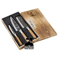 Olive Forged 3-delige-messenset