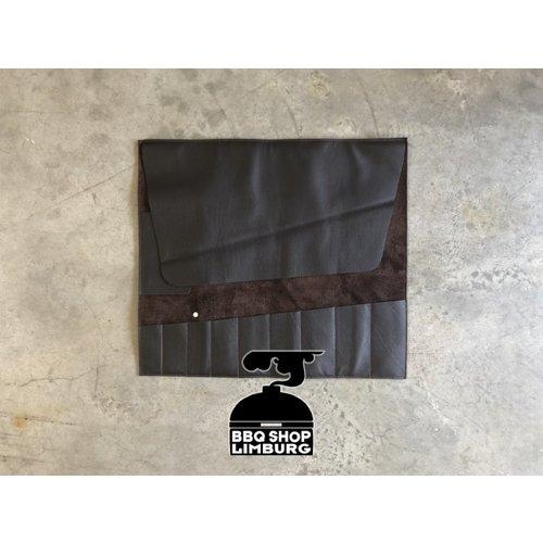 Xapron Xapron Lederen messen foudraal XL Extra Long - 9 pockets Zwart-bruin58x52