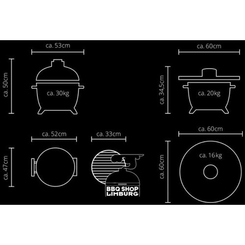 Monolith grills Monolith ICON tafel BBQ kamado