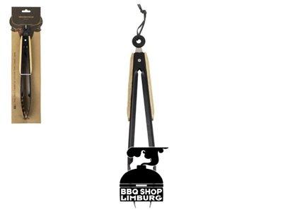 Gusta - Grillin & Chillin BBQ Tang 32cm hout-zwart
