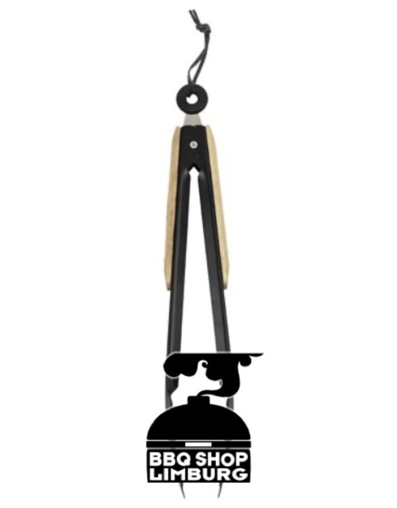Gusta - Grillin & Chillin BBQ Tang 32cm hout-zwart Gusta / Grillin & Chillin
