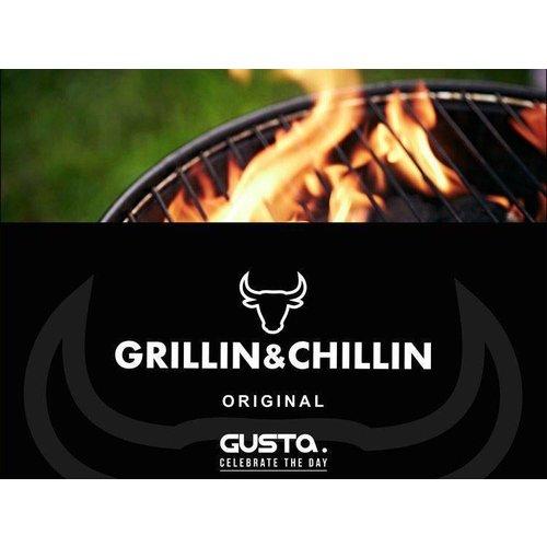 Gusta - Grillin & Chillin Gusta BBQ King portable smoker - roze
