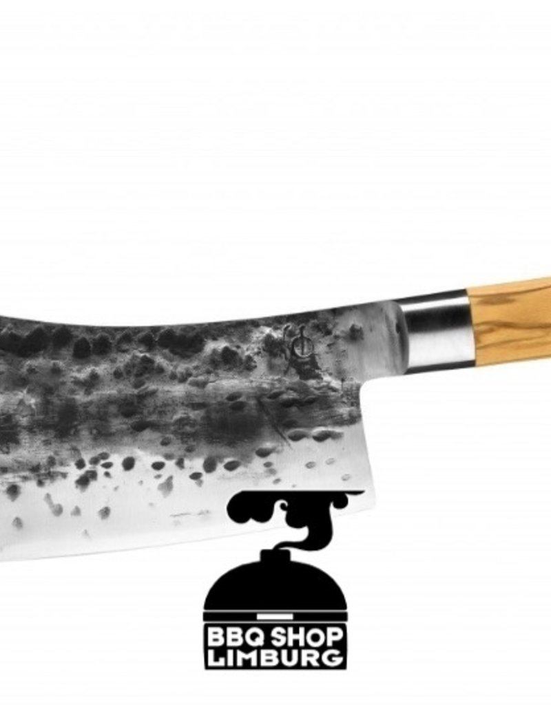 Forged Olive Forged Asian Cleaver - hakbijl