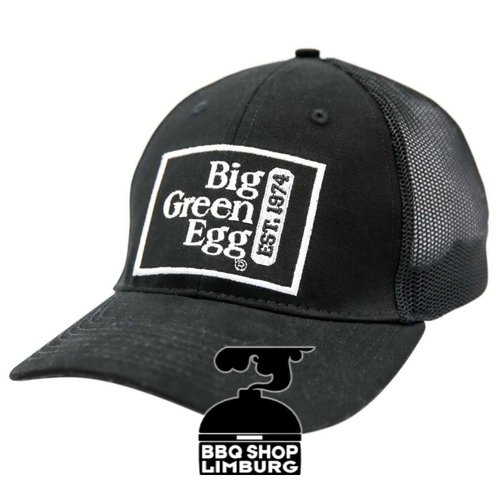 Big Green Egg Big Green Egg Baseball Cap/ Pet - Zwart