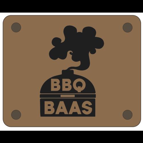 BBQ BAAS leren schort
