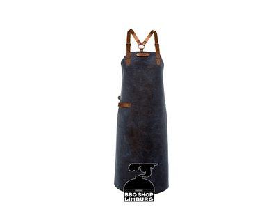Xapron Xapron Lederen schort schouderband apron-82cm Kansas Blue (L)