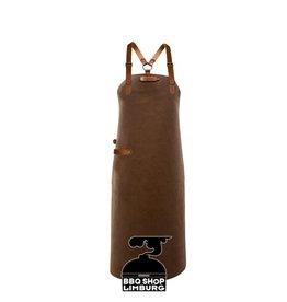 Xapron Xapron Lederen schort schouderband apron-82cm Kansas Rust (L)