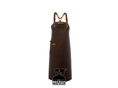 Xapron Xapron Lederen schort schouderband apron-82cm Kansas Brown (L)