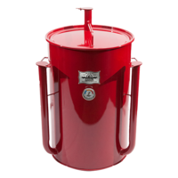Gateway Drum Smoker - Glans Rood - Logo Plate