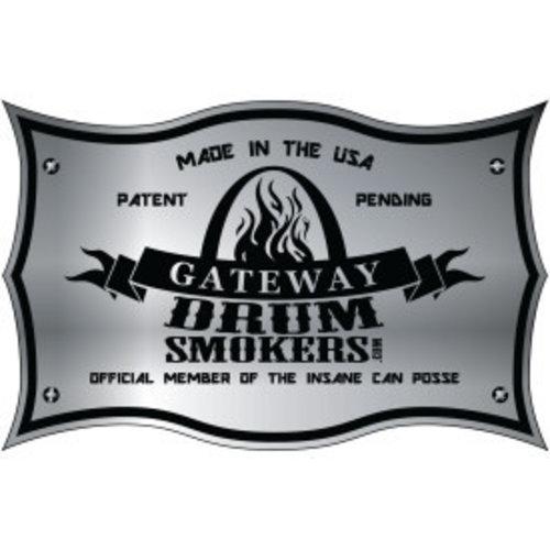 Gateway Drum Smokers Gateway Drum Smoker - Glans Blauw - Logo Plate