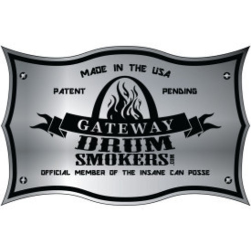 Gateway Drum Smokers Gateway Drum Smoker - Glans Zwart - Logo Plate