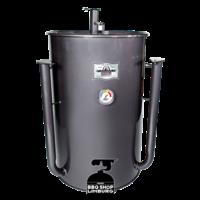 Gateway Drum Smoker - Glans Grijs/charcoal - Logo Plate