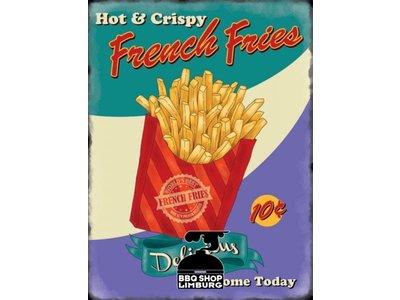 Metalen wandbordje - French Fries 10c 20x30cm