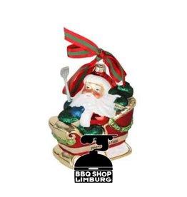 Big Green Egg Big Green Egg Kerstbal - Santa op slee