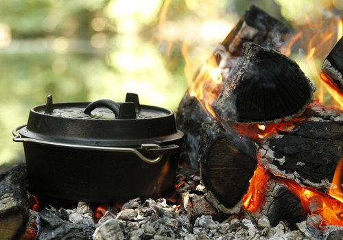 Gietijzer & kampvuur koken