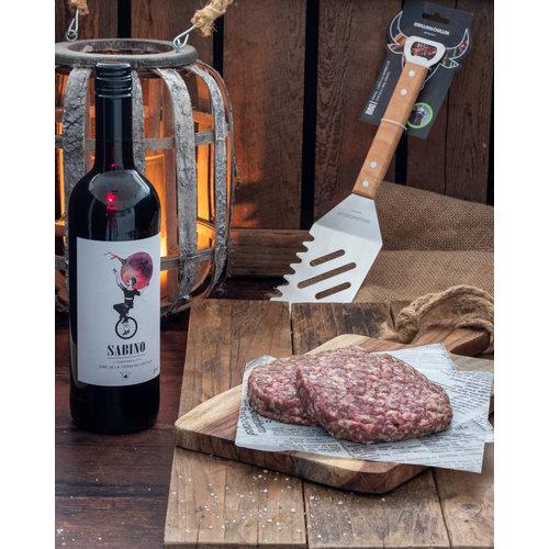 Burger & wijn BBQ geschenk pakket