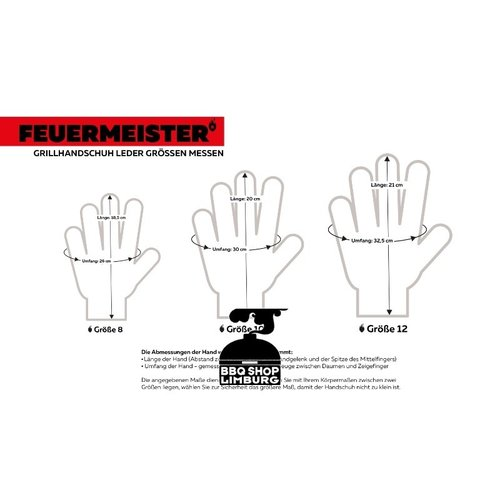 Feuermeister Feuermeister - From Hell - Lederen BBQ handschoenen (paar)