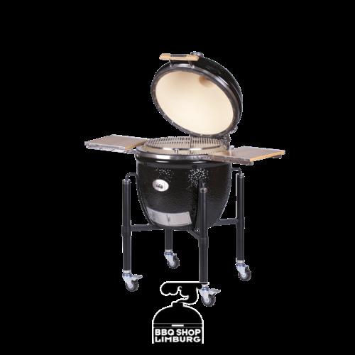 Monolith grills Monolith Le Chef kamado in zwart of rood, met onderstel om zelf in een tafel in te bouwen incl het Pro-Series 2.0 pakket