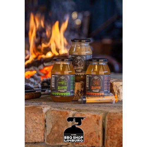 GrateGoods AllBrine Ready Maple & Bourbon Pot + Injector 500g