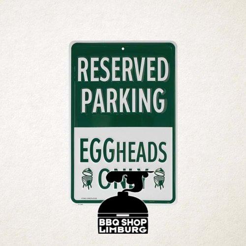 Big Green Egg Big Green Egg metalen wandbord - Reserved parking