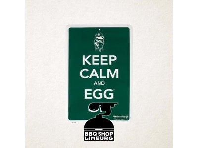 Big Green Egg Big Green Egg metalen wandbord - Keep Calm & Egg On