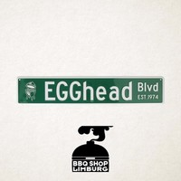 Big Green Egg metalen wandbord - EGGhead Blvd