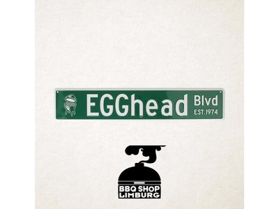 Big Green Egg Big Green Egg metalen wandbord - EGGhead Blvd