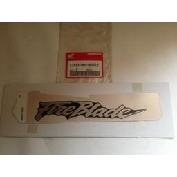 HONDA CBR900RR FireBlade Sticker Achterpaneel
