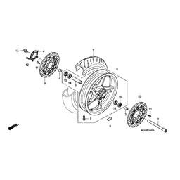 VFR1200F 2011 Left Front Brake Disc