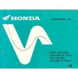 HONDA XR400RT/V Onderdelen Boek